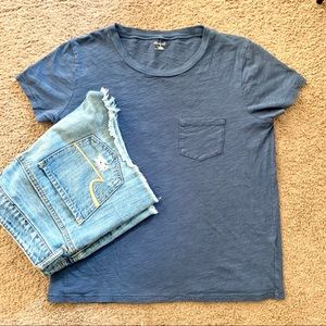 Madewell simple pocket navy  t shirt